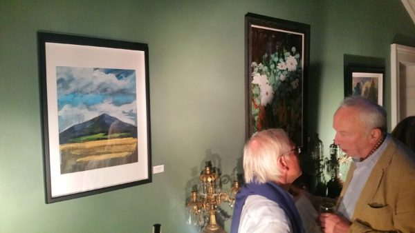 Knockmaeldown Mountain painting hangs in the lobby of Tourin House..
