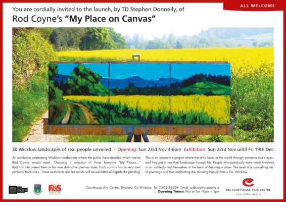My Place on Canvas 2014 invitation.