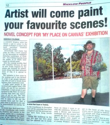 My Place on Canvas featured by Wicklow People.