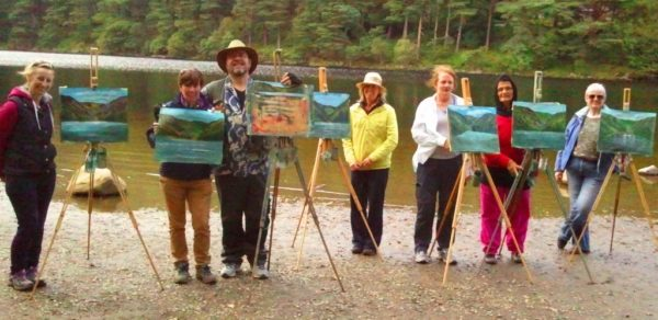 Many people start their painting journey with a gift voucher from Avoca Painting School.