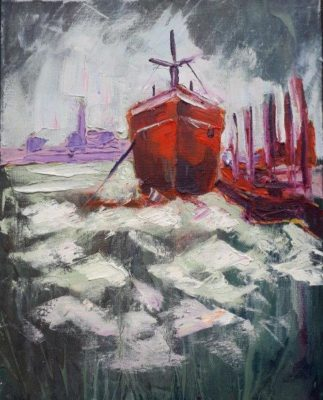 """Hot-Hull"" 50x40cm, oil on canvas."