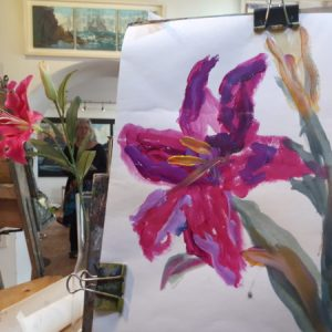 The still life flower shown with the three minute painting of. Paint a Flower in 3 Minutes with Avoca Painting School! Rod Coyne puts the Tuesday Morning class through their paces - and they come up shining!