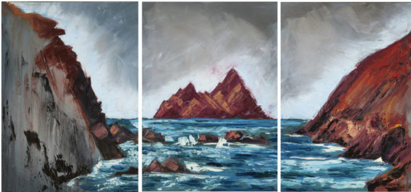 "Featured in Rod's upcoming exhibition ""Red Rock"" 2017, triptych 50x70cm x3, oil on canvas."