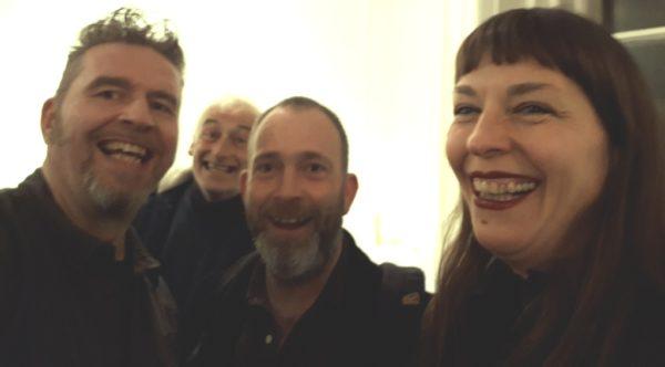 Rod Coyne enjoying a laugh the exhibition launch at the Origin Gallery, Dublin.