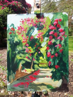 Painting demo by Rod Coyne at Kilmacurragh's Botanical Gardens.