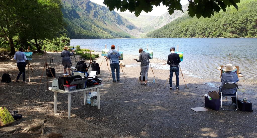 Rod Coyne students discover the beauty of the Upper Lake in the Glendalough Valley.