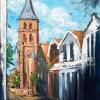 "Image of ""Domburg Mandriaan's Church"" 2014, by Rod Coyne, oil on canvas, 70x100cm."