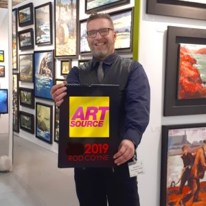 Avoca Gallery's resident artist Rod Coyne is at RDS in Art Source 2019