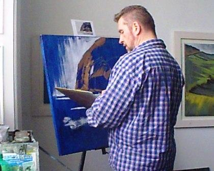 Rod mixes up a new shade for his Origin painting demo.