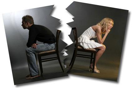 différents types de divorce -des époux en cours de séparation