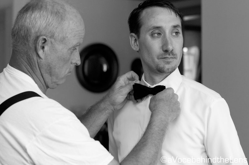 ...to straightening the ties on the bridal party...