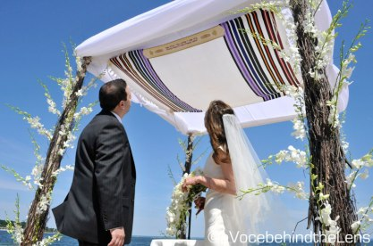 The robe of the chuppah represents the desire of the happy couple that their future be under the protection and guidance of God.
