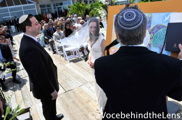 The Rabbi reads from the Ketubah the vows that they have sworn to one another.