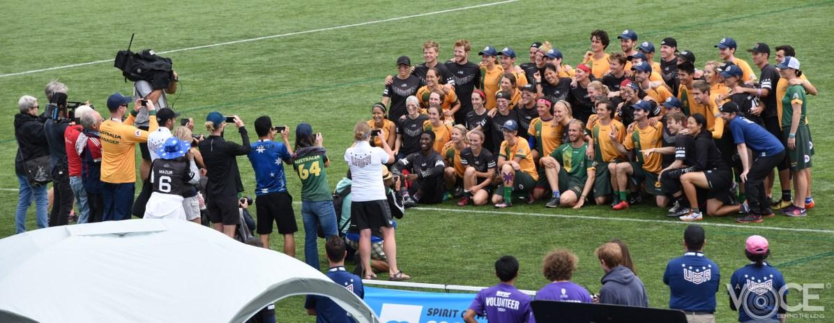 Mixed Finals Teams USA and Australia