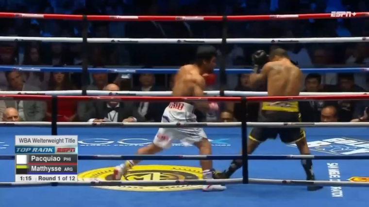 Pacquiao vs. Matthysse: First Round