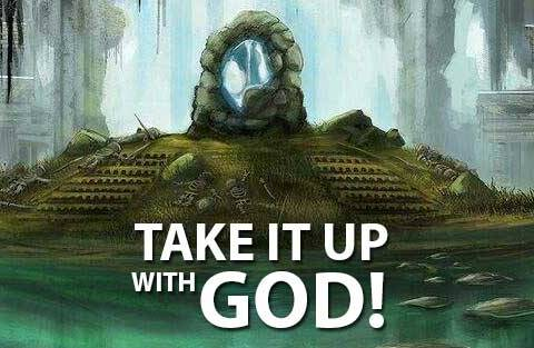 Take it up with God image