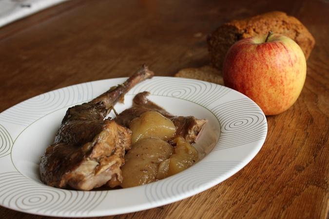 Lapin cidre pomme pain d'épices