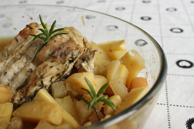 Rôti de porc miel et romarin