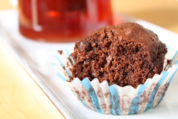 Muffins fort en chocolat