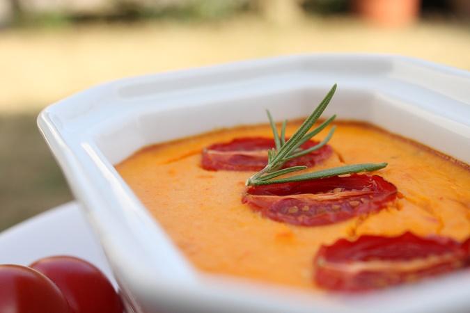Flan carotte et poivron