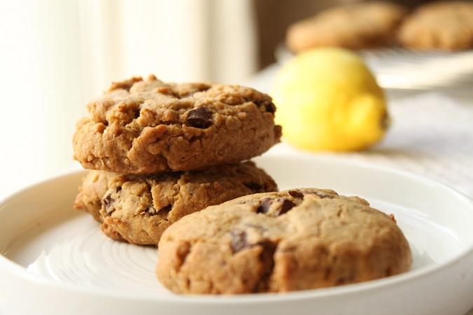 Cookies au spéculoos citron et chocolat