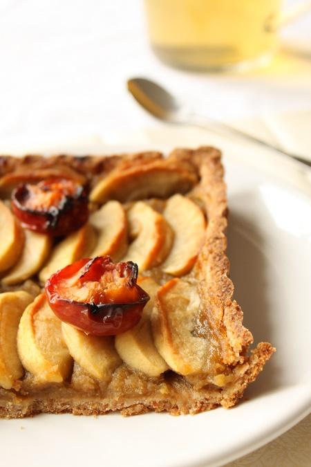 Tarte pomme prune sirop d'érable
