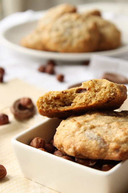 Cookies aux noisettes chocolat blanc et lait caramel
