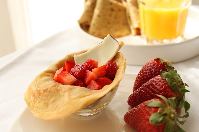 crêpes au jus d'orange sans lactose