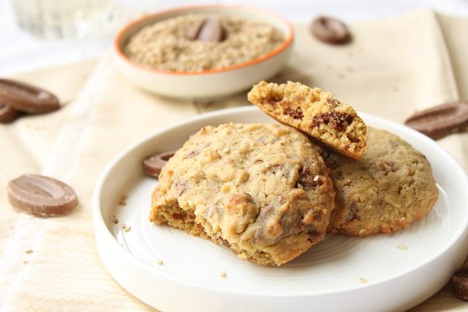 cookies aux graines de sésame chocolat caramelia