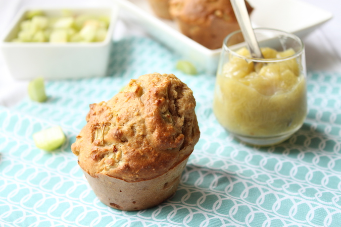Muffins banane rhubarbe