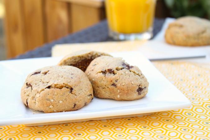Cookies fourrés pâte à la figue