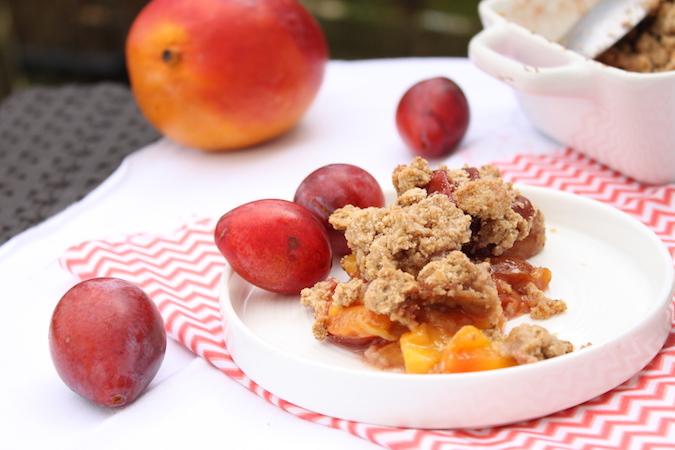 Cumble aux prunes et à la mangue