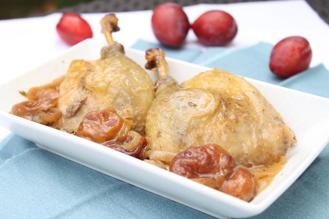 Canard aux prunes et cidre rosé