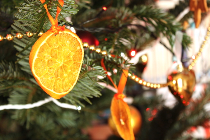 Orange séchée Noël