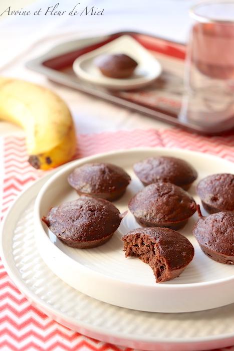 Fondant chocolat banane, sans sucre ajouté, sans beurre, sans gluten