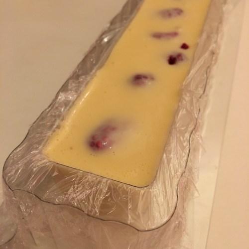 Crémeux chocolat blanc framboise