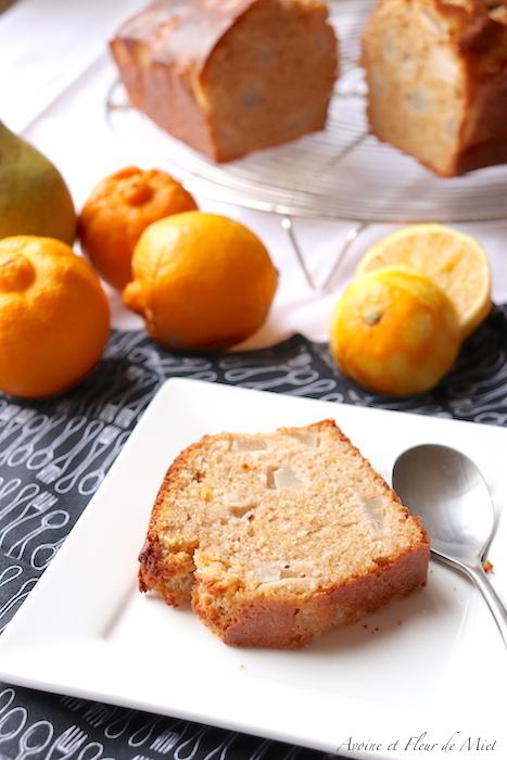 Cake citron bergamote poire
