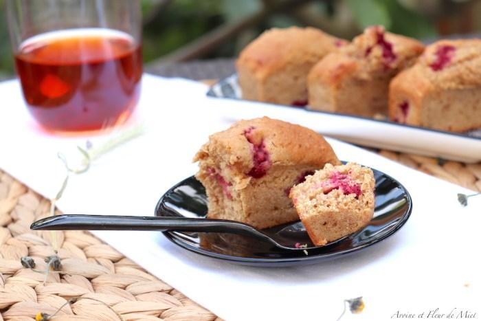 Muffins aux framboises fraîches