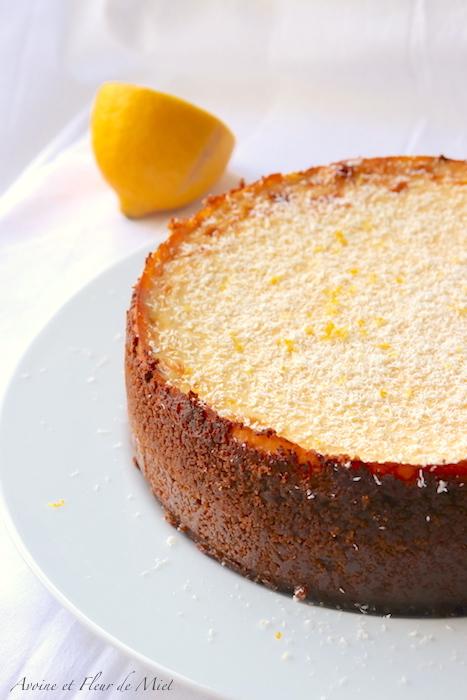 Cheesecake onctueux au citron et son coulis de myrtille