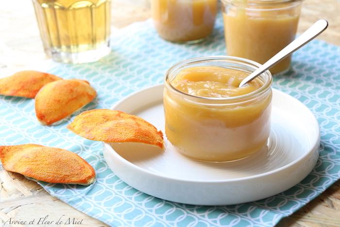 Compote de pomme, mangue et orange