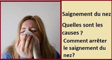 Saignement du nez: Quelles sont les causes & comment arrêter de saigner