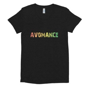 Avomance Women's Scoop Neck Fitted T-shirt – American Apparel – Black