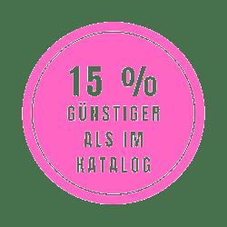 15 % Günstiger als im Katalog