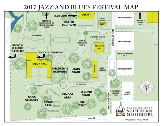 USM 2017 Jazz and Blues Festival Map