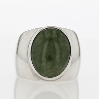 Sterling Green Stone Ring