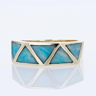 14 Karat Opal Inlay Brand