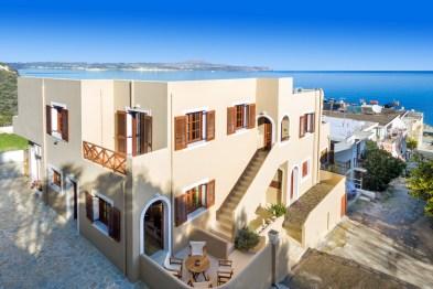 Avra Apartments, Kalyves, Crete, aerial photo of the apartments