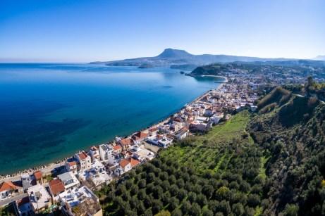 Avra Apartments, Kalyves, Crete, aerial photo over apartments