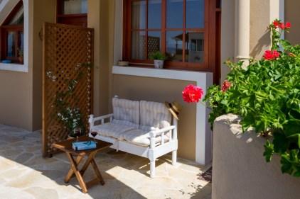 Avra Apartments, Kalyves, Crete - Levantes lower patio