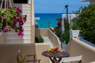 Avra Apartments, Kalyves, Crete - Ostria balcony, view to the sea